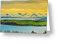 The Mountains Of Arran From Douglas Park Largs Greeting Card