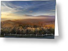 The Mountains Of Brasstown Bald Greeting Card