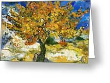 The Mulberry Tree After Van Gogh Greeting Card