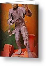 The Mummy Greeting Card by John Malone