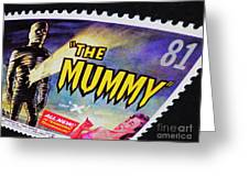 The Mummy Postage Stamp Print Greeting Card