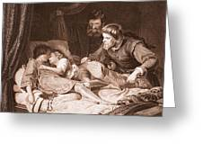 The Murder Of The Princes In The Tower Greeting Card