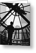 The Musee D'orsay Clock Greeting Card