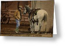 The Mustang Whisperer Greeting Card