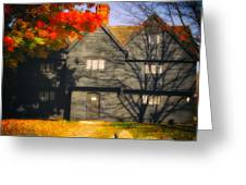 The Mysterious Witch House Of Salem Greeting Card
