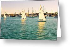 The Mystery Of Sailing Greeting Card