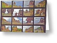 The Mystery Of Tides Photo Assemblage Greeting Card