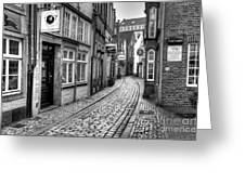The Narrow Cobblestone Street Greeting Card