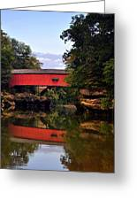 The Narrows Covered Bridge 5 Greeting Card by Marty Koch