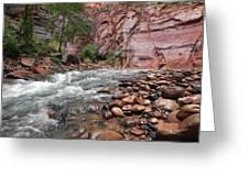 The Narrows Virgin River Greeting Card