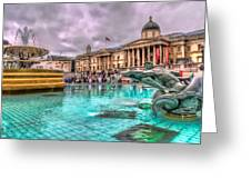 The National Gallery In Trafalgar Square Greeting Card