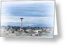 The Needle In Seattle Wa Greeting Card