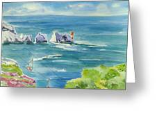 The Needles Isle Of Wight Greeting Card