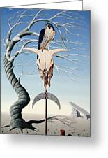 The Neolithic Totem Oil On Canvas Greeting Card