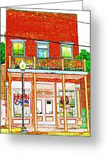 The Neon Sign Co In Colored Pencil Greeting Card