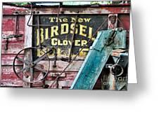 The New Birdsell Clover Huller Greeting Card
