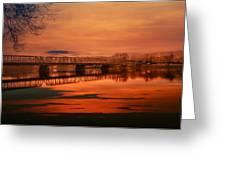 The New Hope Bridge Greeting Card