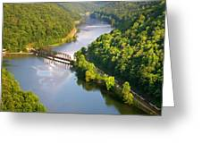 The New River From Hawks Nest Greeting Card