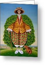 The New Vestments Ivor Cutler As Character In Edward Lear Poem, 1994 Oils And Tempera On Panel Greeting Card
