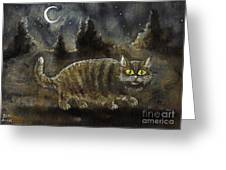 The Night Stalker Greeting Card