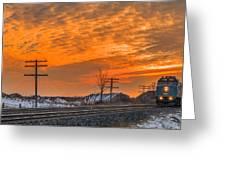 The Night Train Greeting Card