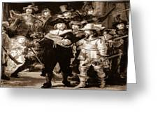 The Night Watch By Rembrandt Greeting Card