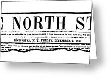 The North Star, 1847 Greeting Card