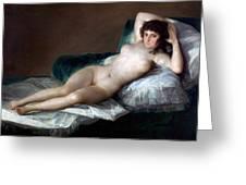 The Nude Maja Greeting Card