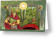 The Oak King Greeting Card