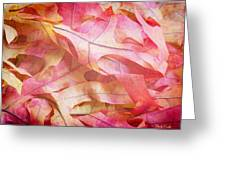 The Oak Leaf Pile Greeting Card