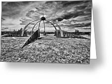 The Observatory Monochrome Greeting Card