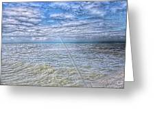 The Ocean And The Pole Greeting Card