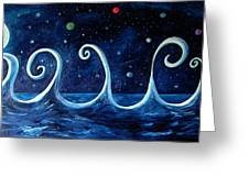 The Ocean, The Moon And The Stars Greeting Card