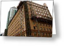 The Old And The New Building Greeting Card by Jocelyne Choquette