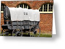 The Old Army Wagon Greeting Card