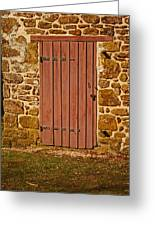 The Old Barn Door Greeting Card