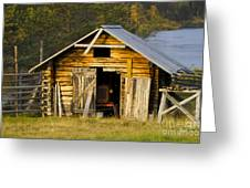 The Old Barn Greeting Card by Heiko Koehrer-Wagner