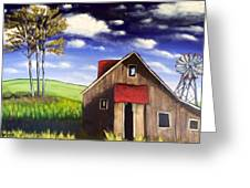 The Old Barn House Greeting Card