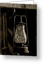 The Old Barn Lantern Greeting Card