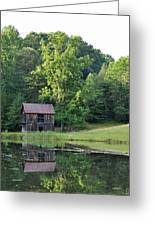 The Old Barn On The Pond Greeting Card