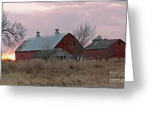The Old Barns Greeting Card