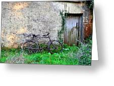The Old Bike In The Irish Countryside Greeting Card
