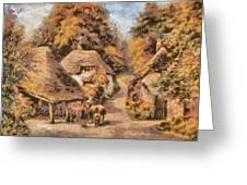 The Old Blacksmiths Forge  Greeting Card