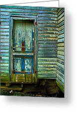 The Old Blue Door Greeting Card