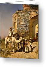 The Old Blue Tiled Mosque - India Greeting Card