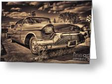 The Old Cadillac  Greeting Card