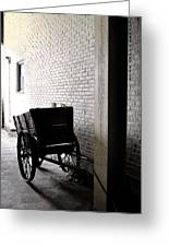 The Old Cart From The Series View Of An Old Railroad Greeting Card