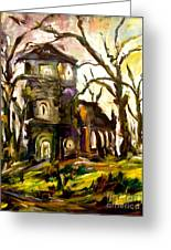 The Old Church Greeting Card by Michelle Dommer