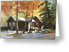 The Old Cottage Greeting Card