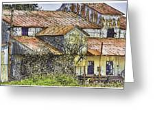 The Old Cotton Barn Greeting Card by Barry Jones